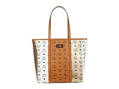MCM Toni Visetos Mix Shopper Medium (Cognac) Handbags