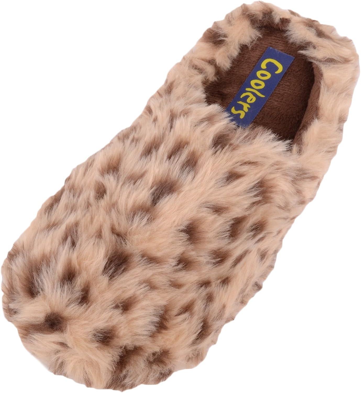 ABSOLUTE FOOTWEAR Ladies Womens Slip On Slippers Mules Indoor shoes with Animal Print Design