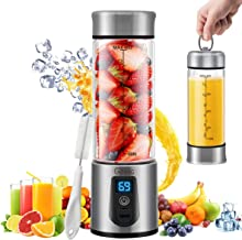 Portable Blender, G-TING Personal Smoothies Blender Cordless, Single Serve Mini Blender 450ml USB Rechargeable Small Juice Mixer 6 Blades Portable Juicer for Shakes, Smoothies, Home, Travel & Gym (FDA BPA Free)