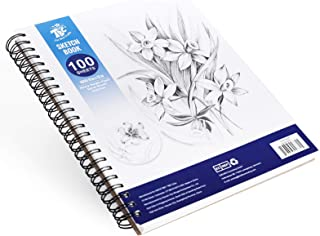 TBC The Best Crafts Carnet de croquis 100 feuilles (100 g) avec reliure à spirale pour enfants, adultes et artistes