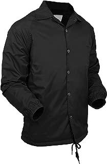 Essentials Mens Premium Lightweight Coach Jacket Waterproof Windbreaker