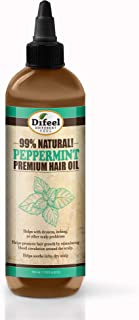 Difeel 99% Natural Premium Hair Oil - Peppermint Oil 7.78 ounce