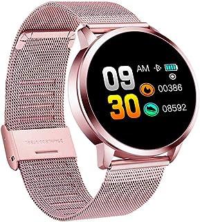 HBBOOI Monitor de Pantalla Deportes Inteligente Color de la Pulsera Inteligente Impermeable Reloj Bluetooth Presión Arterial Frecuencia cardíaca Reloj de Pulsera