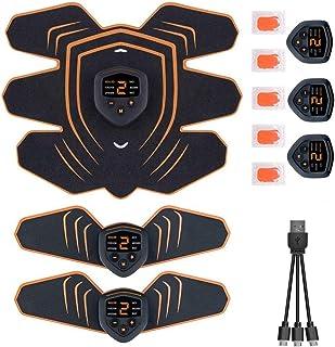 腹筋ベルト EMS 筋力トレーニング 男女兼用 Lakko 筋肉トナー ダイエット器具 静音 自動的 液晶画面 LEDライト 6種類モード 9段階強度 ボディフィット 腹筋器具 EMS腹筋ベルト お腹 腕部 太ももエクササイズ用 USB充電式