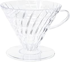 Hario V60 Plastic Coffee Dripper, Size 03, Clear