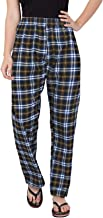 Fflirtygo Pyjama for Women Cotton, 100% Cotton, 100% Color Fastness, Blue and Black Pyjama for Women, Women's Leisure Wear, Night Wear Pajama