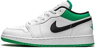 Jordan Air 1 Low (GS) Basse, Sneakers Ragazzo, Bianco/Verde/Nero, Taglia EU 38 - USA 5,5Y