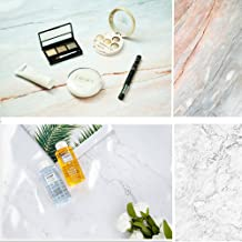 Evanto 22x35 Inch (56x88cm) 2-in-1 Cracked Marble Texture Background Flat Lay Tabletop Photography Backdrop Paper for Food, Jewelry, Cosmetics, Small Products, Photo Pros
