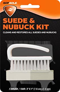 Sof Sole Suede and Nubuck Cleaning Brush Kit for Shoes White