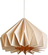 Brownfolds Light Peach Paper Origami lamp Shade; Vanilla Bliss Dual Pack