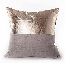 Sugar home metallic pillow Decorative Throw Pillow COVER 18 (grey)