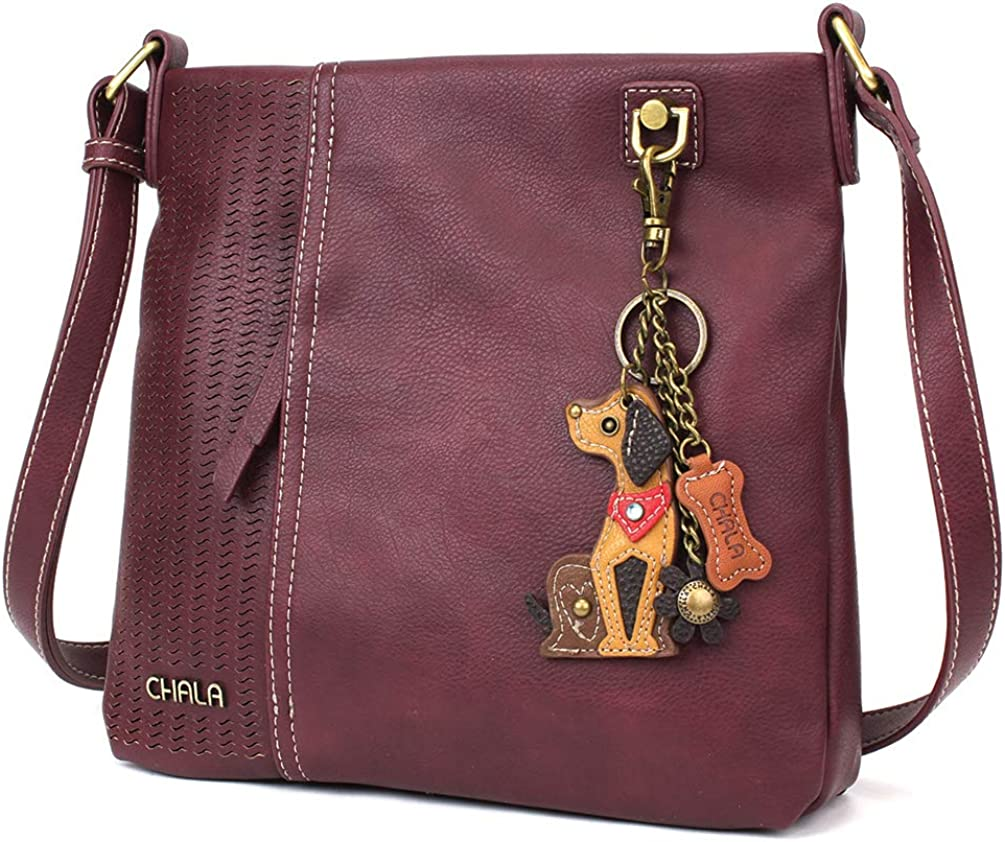 CHALA Laser Cut Crossbody Leather Plum 25% OFF Faux At the price