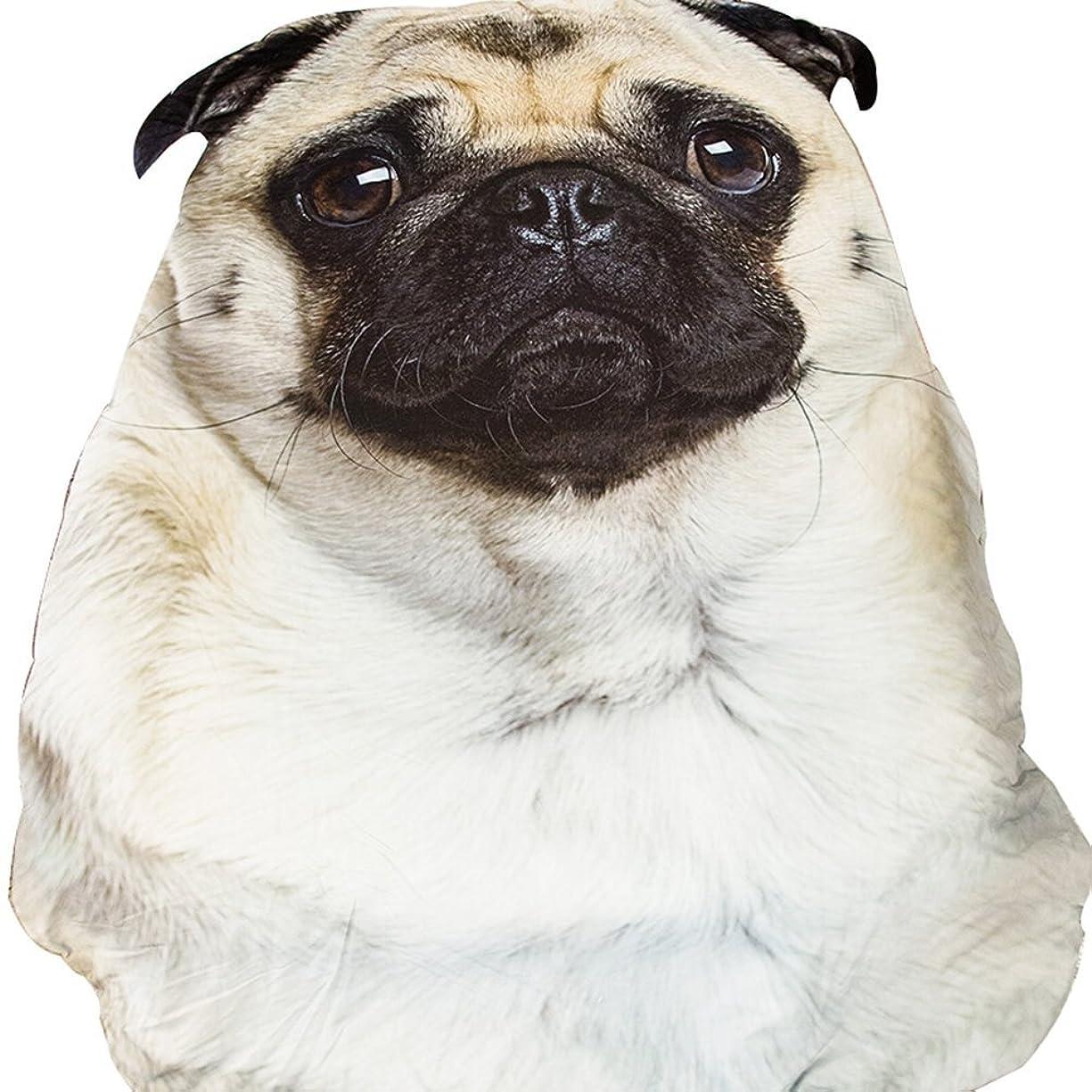 委任ペルセウスリーfanituhan 寝具 子供用 大人用 毛布 動物 犬 パグ pug 夏 掛け布団 洗濯可能 冷房対策最適 サマーキルト かわいい 犬柄 (L)
