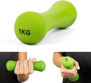 Phoenix Fitness Neoprene Dumbbell Weight for Home Exercise Men Women and Kids Arm Hand Weights Pilates Dumbbells, Single, ...