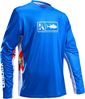 Performance Fishing Shirt Vented Long Sleeve Shirt Sun Protection UPF50 Moisture Wicking Rash Guard with Mesh Sides Loose Fit