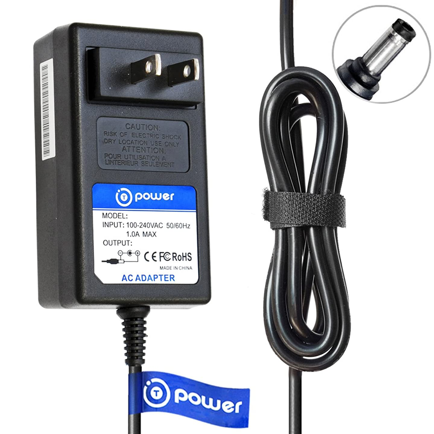 T-Power (6.6ft Long Cable) Ac Dc Adapter Compatible with Yamaha PSR170 PSR-275 PSR-260 PSR260 P,N: PSR170 PSR-275 PSR-260 PSR260 Electronic Digital Piano Midi Keyboard Spare Charger Power Plug Cord