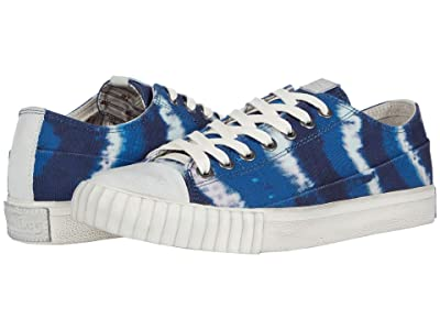 John Varvatos Vulcanized Tie-Dye Print Low Top (Wave Blue) Men
