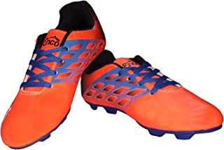 Enco Football Sports Shoes Nitro 1.0 Light Weight Soccer FLU ORG/BLK/BLU