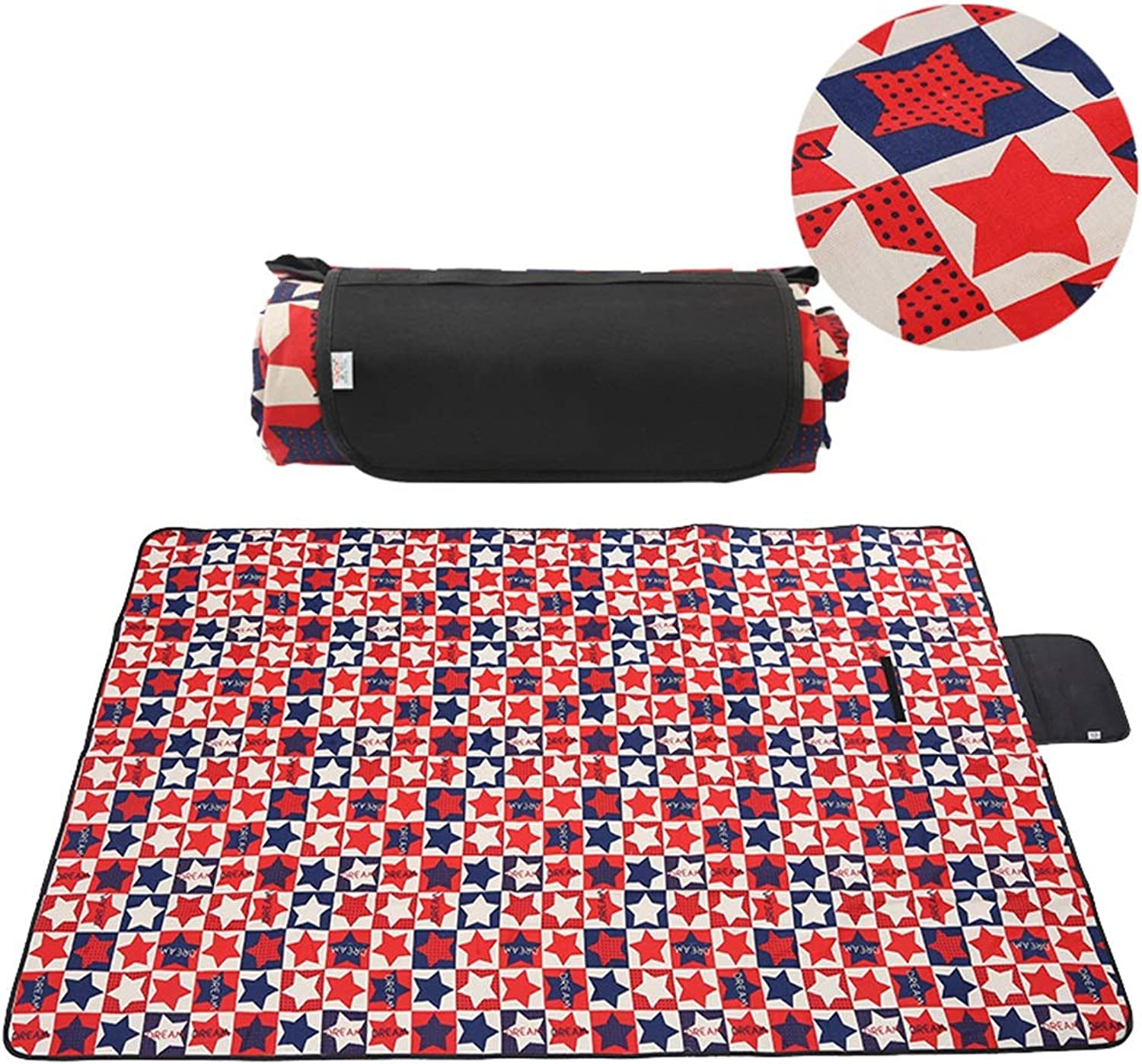 Picnic mat 200 X 145 cm Extra Large Waterproof, Portable Folding Sandproof Beach Mat for Family Travel BBQ