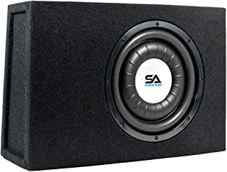 $120 » Sponsored Ad - Seismic Audio - SA-SCE10-10 Inch 500 Watt Slim Shallow Mount Car & Truck Audio Subwoofer Enclosure