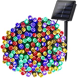 Joomer Solar Christmas Lights, 72ft 200 LED 8 Modes Solar String Lights, Waterproof Solar Fairy Lights for Garden, Patio, Home, Wedding, Party, Christmas Decorations (Multi-Color)