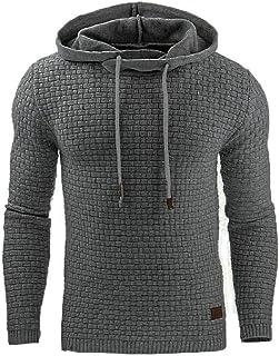 FSSE Men Relaxed Fit Plus Size Gym Workout Print Hoodie Pullover Hoodie Sweatshirt