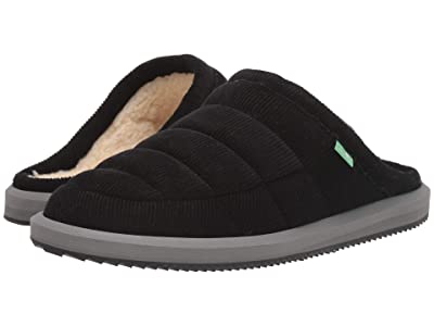 Sanuk Puff N Chill Low Cord (Black) Men