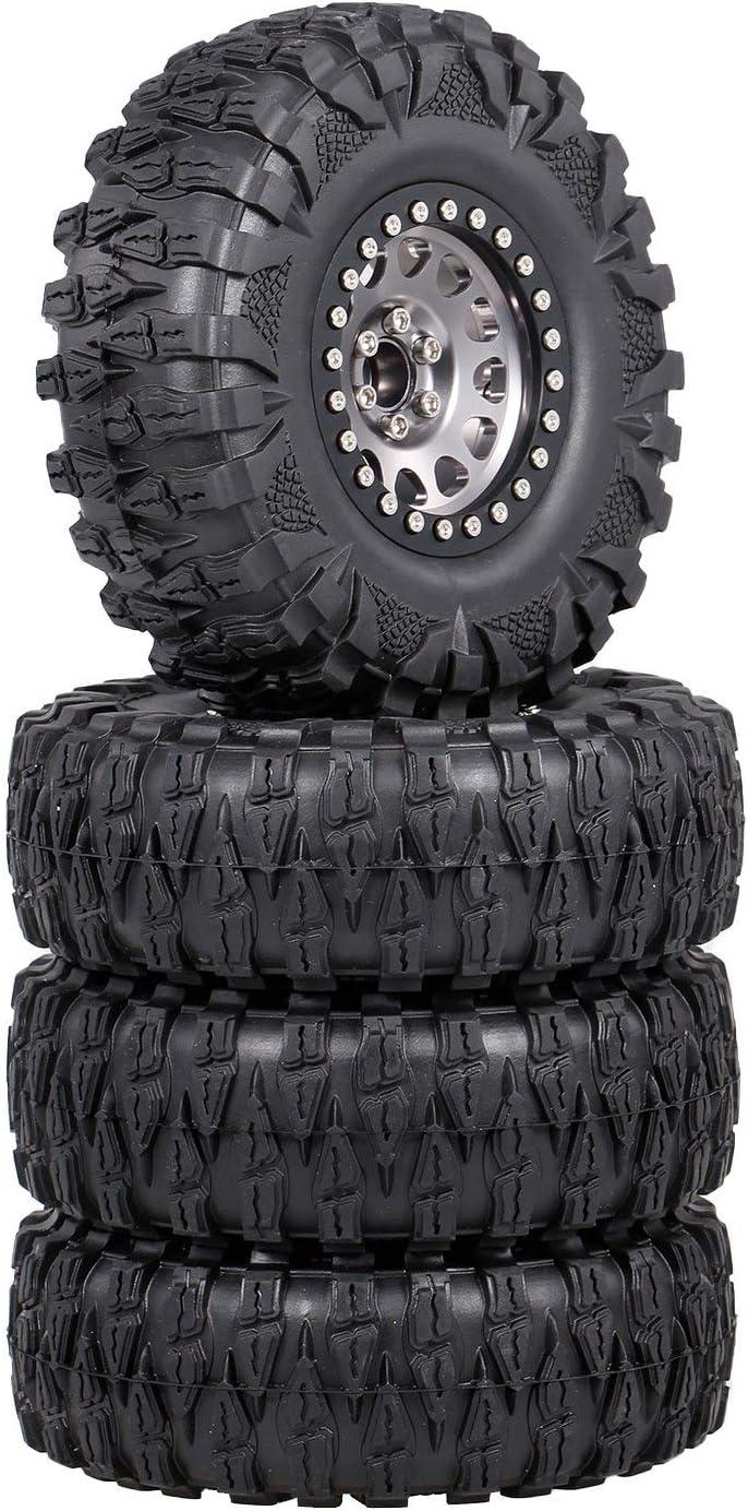 Runtodo 4PCS Metal 2.2 It is very popular Beadlock Wheel Rim RC for 10 Set Mesa Mall 1 Tires
