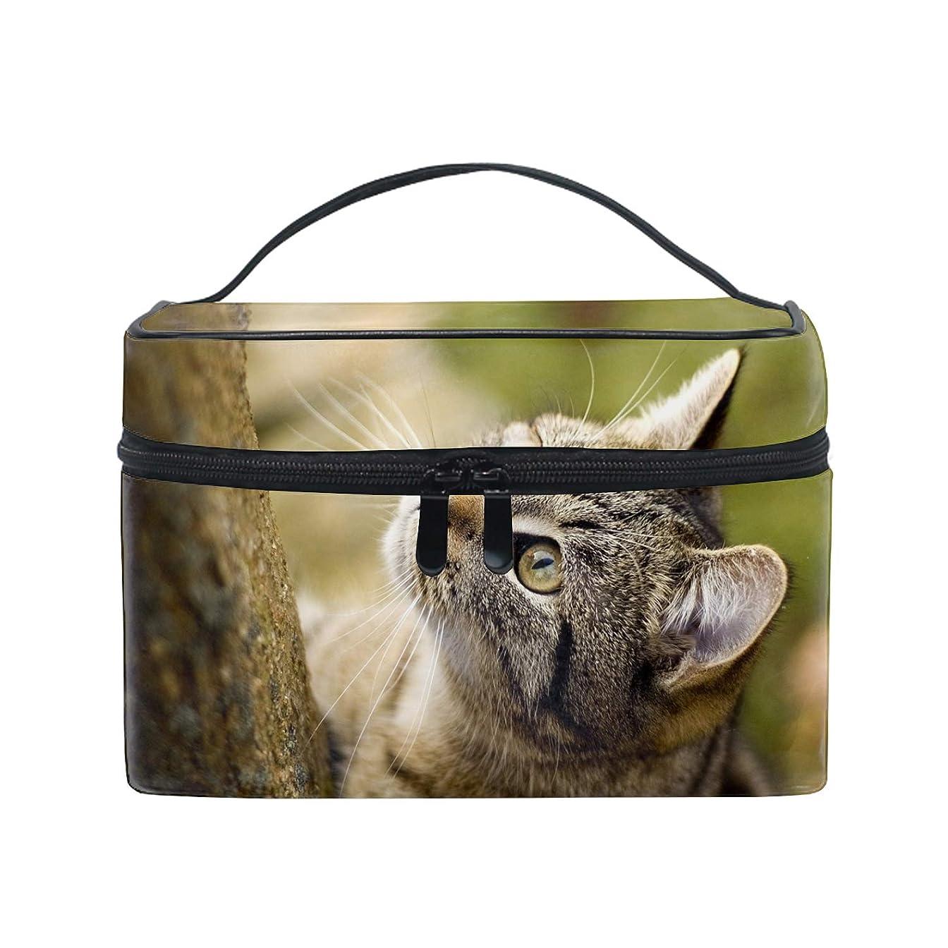 告発工夫するコンピューター動物猫化粧品収納 小物入れ 軽量 防水 旅行も便利 かわいい おしゃれ キャリーケース