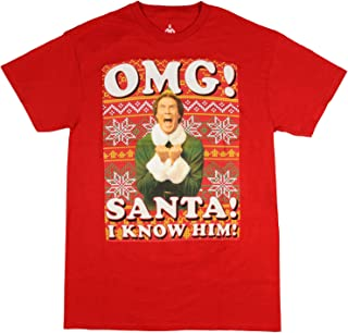 Buddy The Elf Shirt OMG! Santa I Know Him Ugly Sweater Design Christmas Holiday Movie T-Shirt