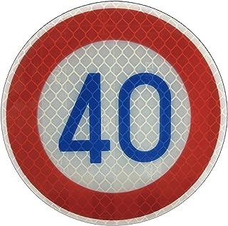 道路標識 ミニチュア 標識板のみ・ 制限速度 40キロ