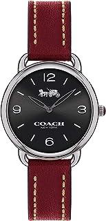 Coach WOMEN'S BLACK DIAL CHERRY CALFSKIN WATCH - 14502792