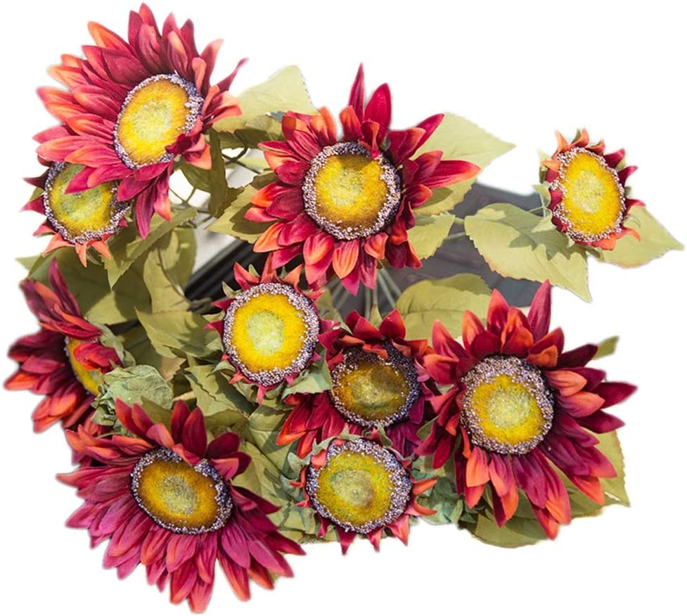 QUETW Artificial Flowers Oil Painting Bouqu Simulation Sunflower Max 52% OFF Spring new work