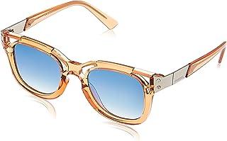 نظارات شمسية زرقاء للنساء من ديزل DL0232 74X مقاس 49 22 140 ملم