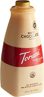 Torani Puremade Sauce, White Chocolate Flavor, GMO Free & Gluten Free, 64 Fl. Oz. 1.89 L