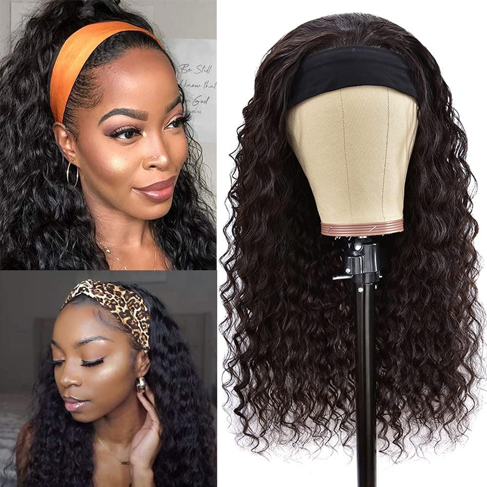 Headband NEW before selling Wigs Human Hair Wave Water Half quality assurance Braz