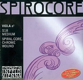 Thomastik Cuerda para Viola 4/4 Spirocore - cuerda La núcleo en espiral entorchado aluminio, fuerte
