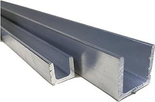Perfil de aluminio en U - Acabado natural, 25 x 25 x 25 x 3