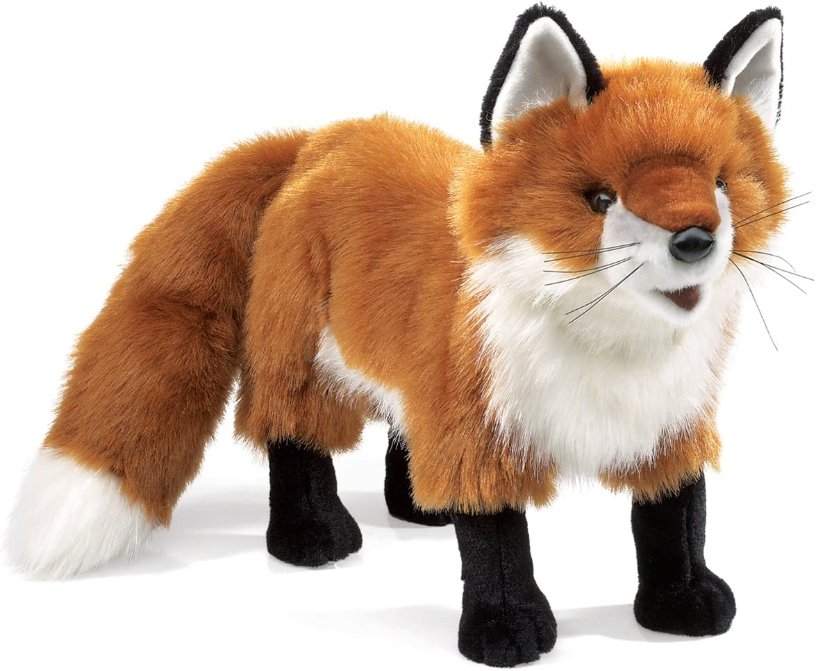 Folkmanis Red Fox Hand Puppet, Rust, White, Black, 1 EA