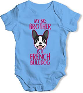 My Sibling Is A French Bulldog Funny Infant Creeper