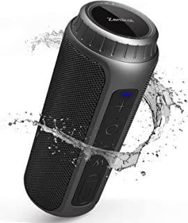 Zamkol Bluetooth Lautsprecher 5.0 30W Wireless Bluetooth Speakers 360° Bass Sound 15-20 Stunden Spielzeit Tragbarer Lautsprecher mit IPX6 Wasserdicht und Mikrofon (Schwarz)