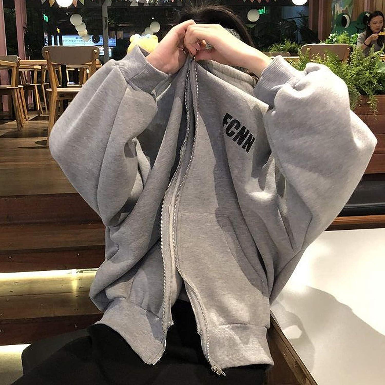 Women's Casual Lightweight Sweatshirt Active Zip-Up Hoodie Jackets Comfortable Soft Letter Printed Coat With Pockets
