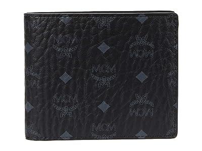 MCM Visetos Original Flap Wallet/Two-Fold Small (Black) Bags
