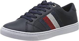 Tommy Hilfiger Crystal Leather Casual Women Sneakers