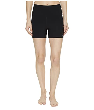 ALO Ripped Shorts (Black) Women