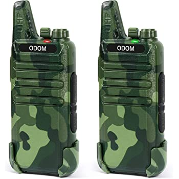 Rechargeable Walkie Talkies Long Range Two Way Radios for Adults - Portable 2 Way Radio 16 Channels Walky Talky - Channel Lock, VOX, Monitor Function (2 Pack Camouflage)