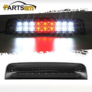 Partsam High Mount 3rd Third Brake Light Replacement for Dodge Ram 2009-2017 1500 2500 3500 Red/White 27 LED Rear Cab Roof Center Mount Tail Cargo Lights Lamps Smoke Lens Black Housing Waterproof