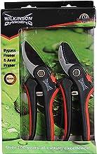 Wilkinson Sword 1111174W Bypass Pruner & Anvil Pruner Secateurs Twin Pack