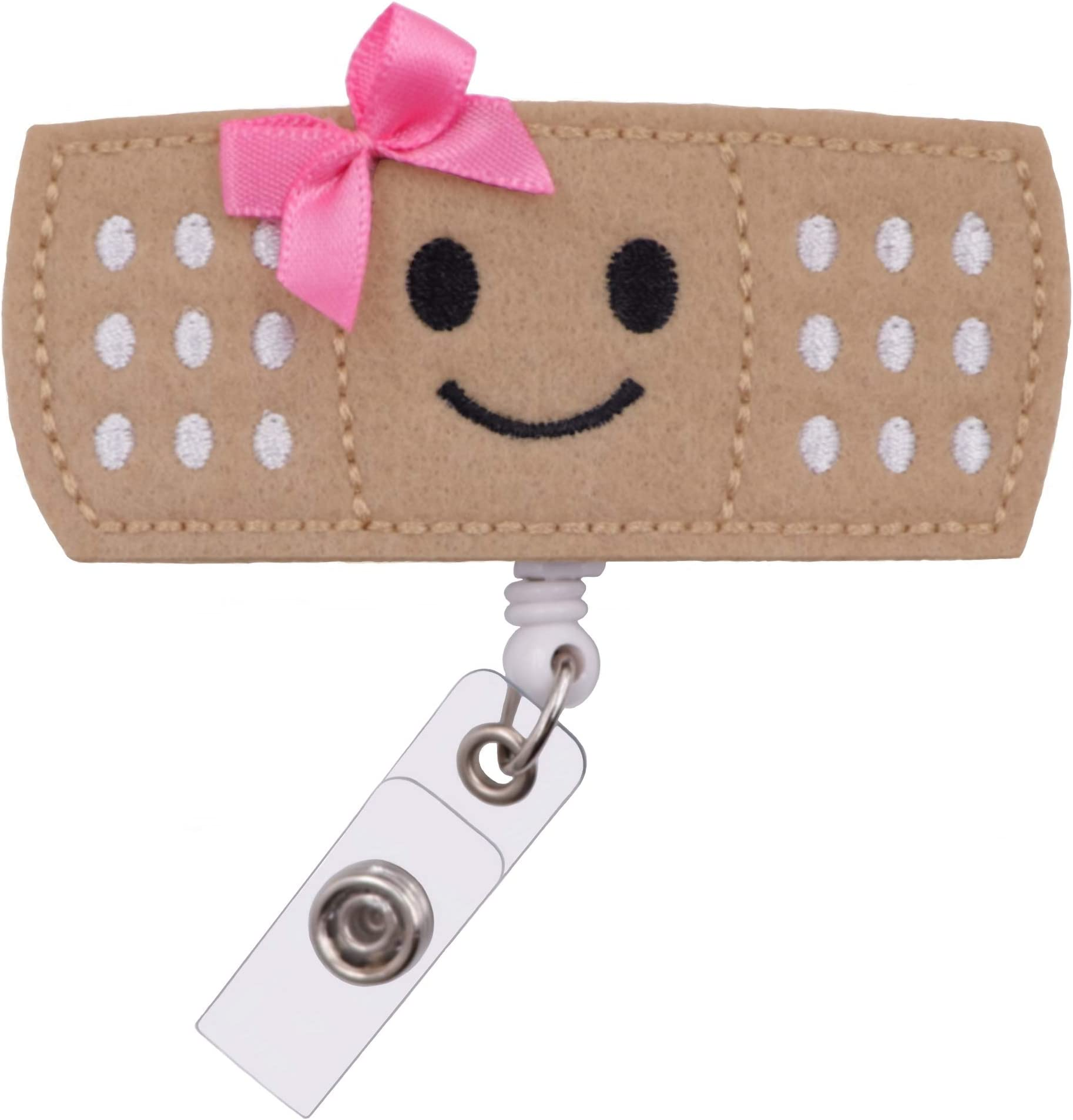 Badge Holder Gift Medical Professional   Customized Bandaid Glitter Badge Reel Nurse Doctor Glitter First Aid