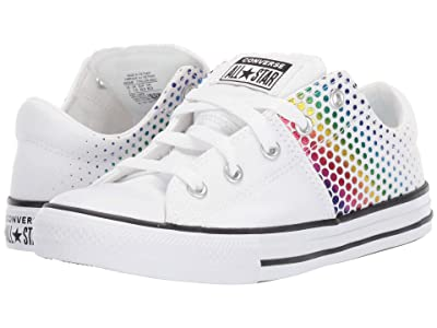 Converse Kids Chuck Taylor(r) All Star(r) Madison Kaleidoscope Ox (Little Kid/Big Kid) (White/Multi/White) Girls Shoes